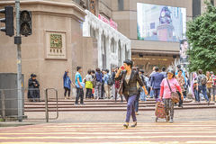 Femme occupée de Hong Kong Image stock