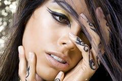 Femme orientale de danseur Photo stock