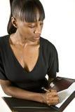 Femme ou étudiant d'affaires d'Afro-américain photographie stock libre de droits