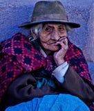 Femme péruvien Photo stock