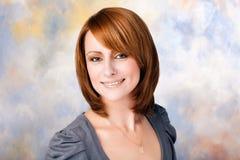Femme parfait sur le fond coloré Photographie stock libre de droits