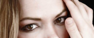 Femme partielle face-1 images stock