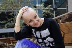 Femme pendant la chimiothérapie Photo libre de droits