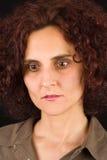 femme pensante rousse Photo libre de droits