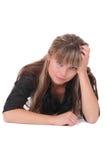 Femme perplexe Photographie stock