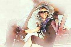 Femme pilote illustration de vecteur