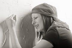 Femme pleurant Photos stock