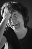 femme pleurant Photographie stock