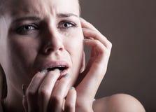 Femme pleurante Photographie stock