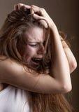 Femme pleurante photographie stock libre de droits
