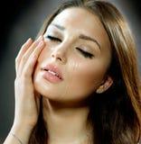 Femme pleurante. Larmes. photographie stock libre de droits