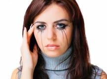 Femme pleurante vers Photographie stock