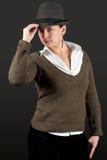 Femme posant dans le studio Photo libre de droits