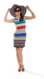 Femme posant la maquette Image libre de droits