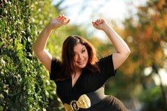 Femme positive de taille Photos libres de droits