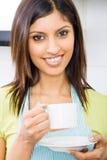femme potable de café photos libres de droits