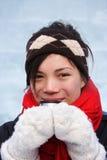 femme potable de l'hiver images libres de droits