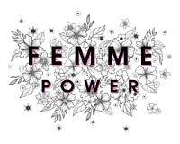 Femme Power - cópia à moda para camisas, cartazes, cartões e cópias de t Fotos de Stock Royalty Free