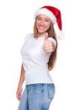 Femme prêt pour Noël image libre de droits
