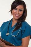 Femme professionnelle médicale de joli natif américain Photographie stock