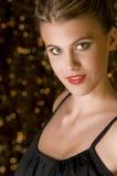 Femme provocateur dans la robe de réception image stock