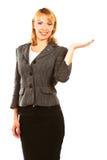 Femme réussie heureuse d'affaires photos stock