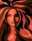 Femme radiant Photos libres de droits