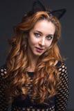 Femme redhaired de beauté Photo libre de droits