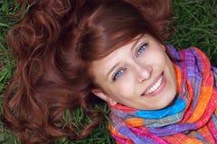 Femme redhaired de beaut Photo libre de droits
