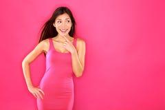Femme regardant au côté Image stock