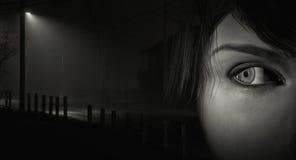 Femme regardant en arrière Photos libres de droits