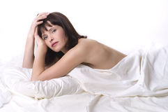 Femme Relaxed Photos stock