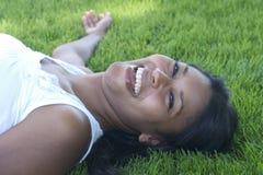 Femme riant Photographie stock libre de droits