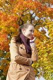 Femme riante Image libre de droits