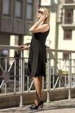 Femme riche de ville photographie stock