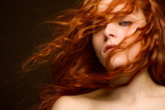 Femme rousse sexy Photo stock