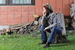 Femme rural photographie stock libre de droits