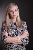 Femme sérieuse d'affaires Images stock
