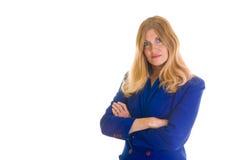 Femme sérieux d'affaires avec des bras croisés photos libres de droits