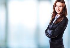 Femme sûre d'affaires Images stock