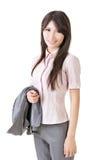 Femme sûre de cadre commercial photo libre de droits