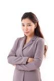 Femme sûre, fraîche, belle d'affaires Photos stock