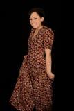 femme s'usante de sourire de robe Image stock