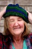 Femme sans foyer Photographie stock libre de droits