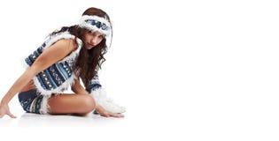 Femme sauvage de l'hiver Image libre de droits