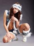 Femme sauvage de l'hiver Image stock