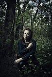 Femme scandinave avec l'épée photographie stock libre de droits