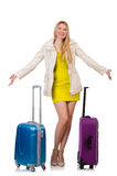 Femme se préparant aux vacances Photographie stock libre de droits