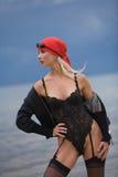 Femme sensuel attirant sur la plage Images libres de droits