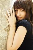 Femme sensuel regardant fixement l'appareil-photo Photo libre de droits